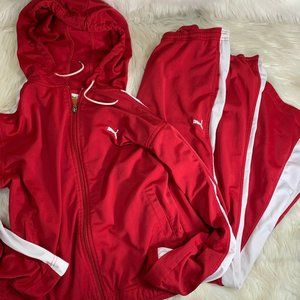 PUMA Track Suit Two Piece Mens XL & L Red White